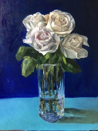Dying Roses. 12x9. Oil on linen panel.