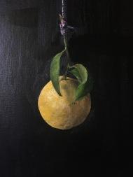 Borrowed Lemon. 12x9. Oil on linen panel.